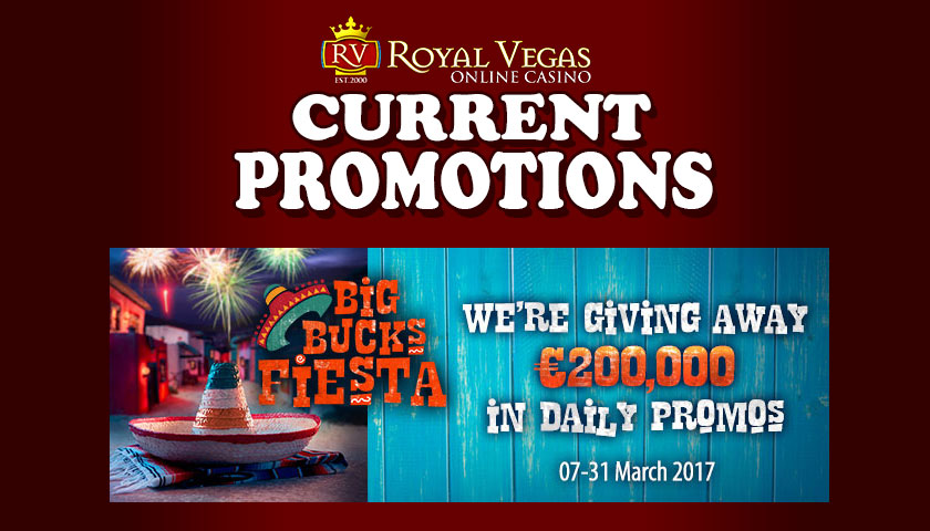 Royal Vegas Casino Current Promotions March 2017