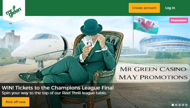 Mr Green Casino May Promotions 2017