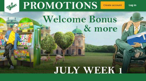 Mr Green Casino July Promotions Week 1