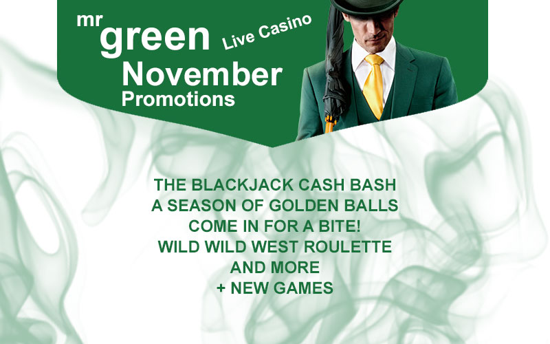 Mr Green Live Casino November Promotions