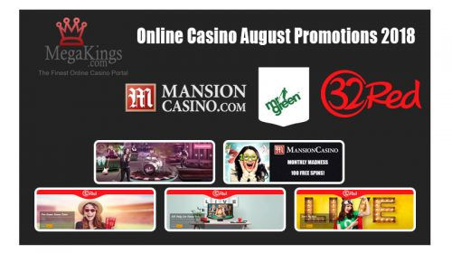 Online Casino August Promotions 2018