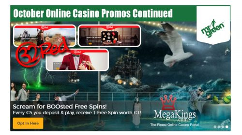 October Online Casino Promos
