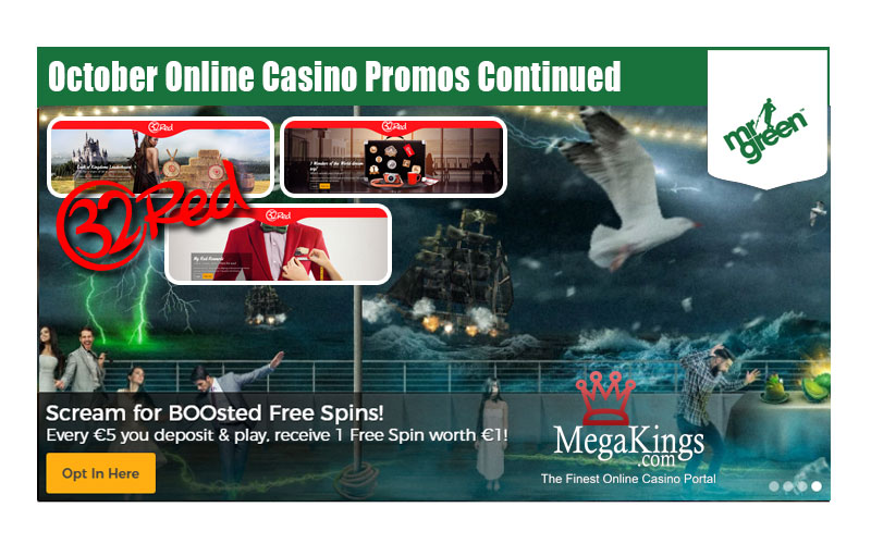 October Online Casino Promos