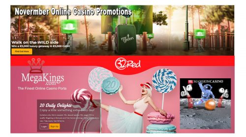 November Online Casino Promotions